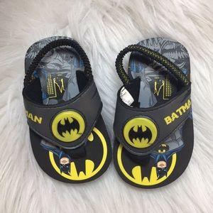 NEW Batman Infant/Toddler Flip Flop Beach Sandals